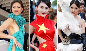 Những bộ váy tai tiếng trên thảm đỏ Cannes 2017