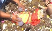 Tục nhúng trẻ vào phân bò lấy may ở Ấn Độ