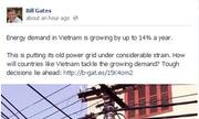 Facebook dậy sóng vì Bill Gates đăng ảnh cột điện Việt Nam
