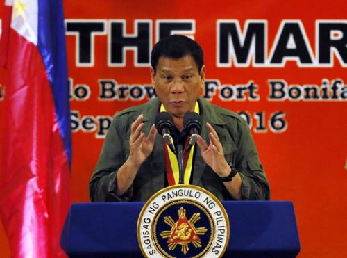Tổng thốngPhilippines Rodrigo Duterte. Ảnh: AP