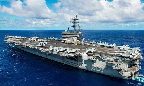 Tàu sân bay Mỹ USS Ronald Reagan. Ảnh: Sputnik.