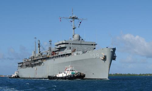 Tàu tiếp liệu tàu ngầm USSFrank Cable của hải quân Mỹ. Ảnh: US Navy