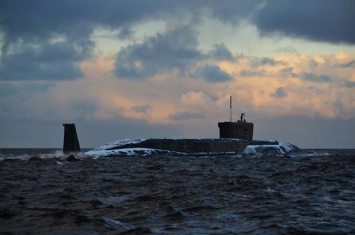 Tàu ngầm hạt nhân chiến lược Alexander Nevsky lớp Borei của Nga. Ảnh: Russian military forums