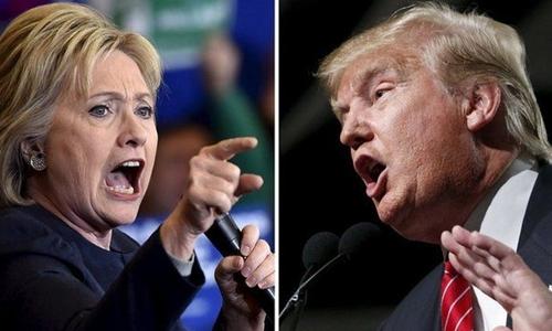 Báo Trung Quốc nói các ứng viên Clinton và Trump dường như chỉ hướng tới công kích cá nhân. Ảnh: BBC.