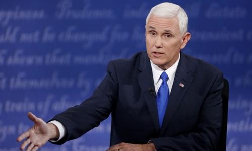 Ứng viên phó tổng thống đảng Cộng hòa Mike Pence. Ảnh: Reuters.