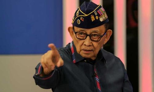 Cựu tổng thống Fidel Ramos chỉ trích chính quyền hiện tại của ông Duterte gây thất vọng. Ảnh: ABS-CBN.