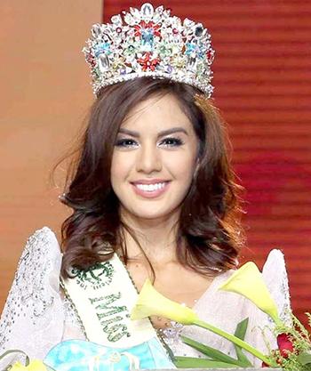 Imelda Bautista Schweighart khi đăng quangHoa hậu Trái đất Philippines 2016.Manila Bulletin