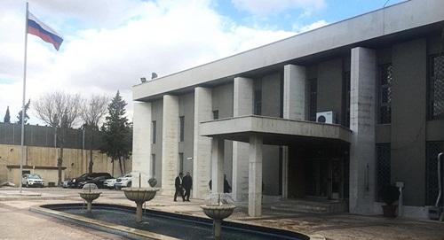 Đại sứ quán Nga ở Syria. Ảnh: Sputnik.