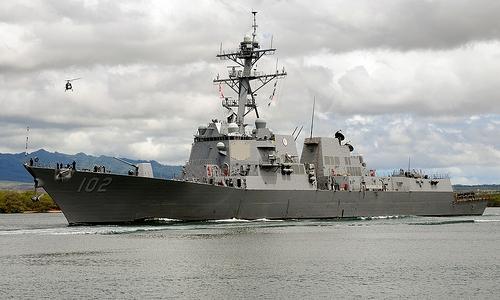Tàu USS Sampson. Ảnh: US Navy.