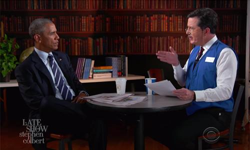 Ông Obama và ngngười dẫn chương trìnhStephen ColbertChương trìnhThe Late Show của kênhCBSh