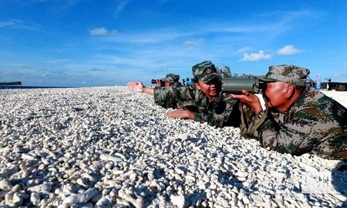 Lính Trung Quốc trong cuộc tập trận trái phép tại đảo Phú Lâm, Hoàng Sa hồi năm 2012. Ảnh: China Daily.