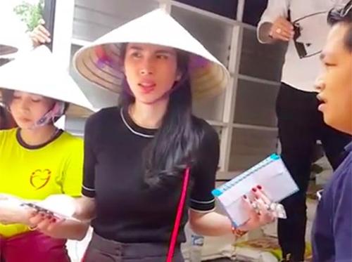 ca sĩ Thủy Tiên.