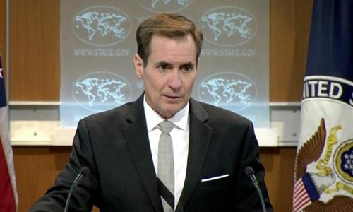 Người phát ngôn Bộ Ngoại giao Mỹ John Kirby. Ảnh: Reuters.