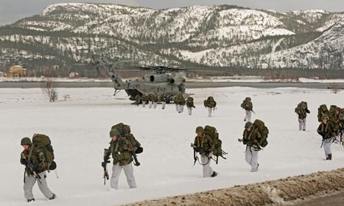 Mỹ sẽ triển khai 330 lính thủy đánh bộ tới Na Uy, cách biên giới Nga khoảng 1.000 km. Ảnh minh họa: AFP.