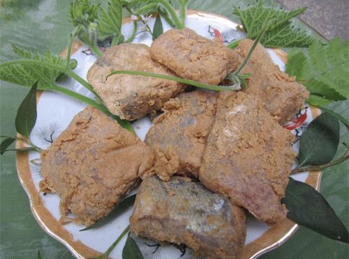 Đặc sản cá thính nổi tiếng của huyện Lập Thạch. Ảnh:kienthuc