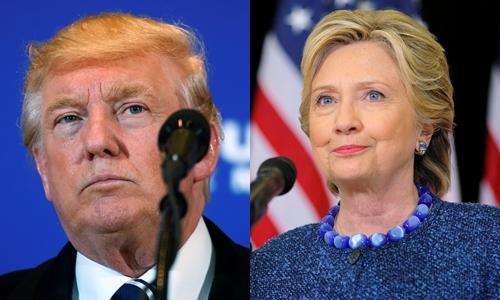 Ứng viên tổng thống Donald Trump, đảng Cộng hòa, và Hillary Clinton, đảng Dân chủ. Ảnh: Reuters.