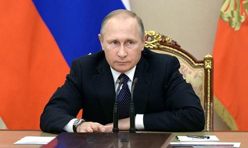 Tổng thống Nga Putin đã ký luật dừng thỏa thuận tiêu hủy nguyên liệu hạt nhân với Mỹ. Ảnh: Sputnik.
