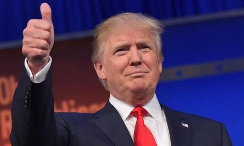 Ông Trump nói cảm ơn người làm lộ email có thể liên quan tới bà Clinton. Ảnh: AFP.