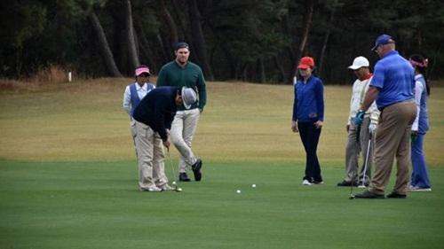 Giải golf quốc tế tại sân golf duy nhất ở Triều Tiên. Ảnh: