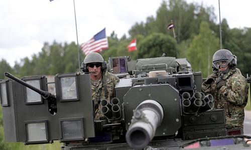 Lính Mỹ tại Latvia hồi tháng 6. Ảnh: Reuters.