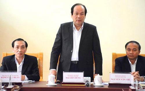 ộ trưởng, Chủ nhiệm VPCP phát biểu tại buổi tiếp công dân xã Thanh Lãng. Ảnh: Gia Huy
