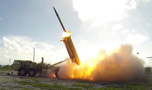 Hệ thống THAAD được phóng thử năm 2015. Ảnh: MissileDefenseAgency.