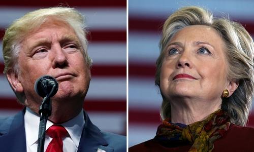 Donald Trump (trái) và Hillary Clinton. Ảnh: Reuters.