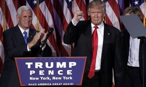 Donald Trump và phó tướng Mike Pence. Ảnh: Reuters.