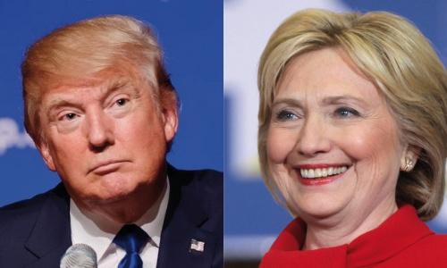 Tổng thống Mỹ đắc cử Donald Trump và ứng viên đảng Dân chủ Hillary Clinton. Ảnh: Reuters