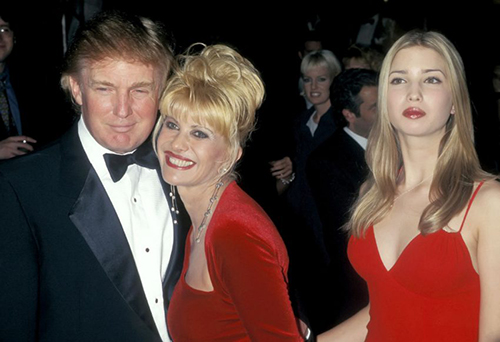 Donald and Ivana Trump with their daughter Ivanka