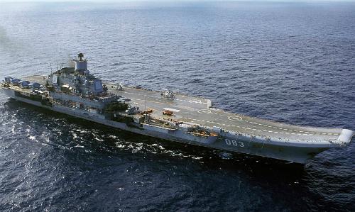 Tàu sân bay Đô đốc Kuznetsov của Nga. Ảnh: Sputnik