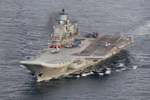 Chiến đấu cơ gặp nạn khi đang hạ cánh xuốngtàu sân bay Đô đốc Kuznetsov của Nga. Ảnh: Reuters