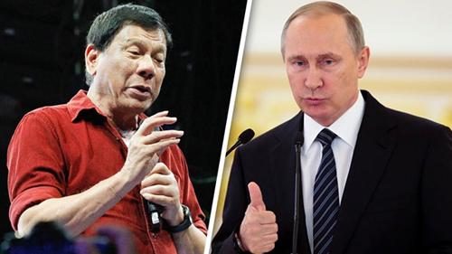 Tổng thống PhilippinesRodrigo Duterte và Tổng thống Nga Vladimir Putin. Ảnh: