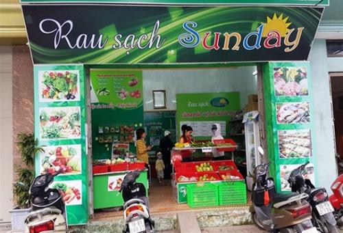 Cửa hàng rau sạch Sunday. Ảnh: VietGap