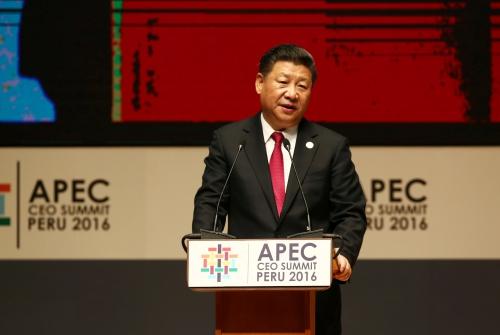 Chủ tịch Trung Quốc Tập Cận Bình phát biểu tại hội nghị. Ảnh: Reuters