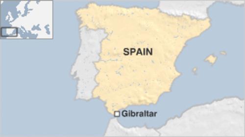 Vị trí Gibraltar. Đồ họa: BBC.