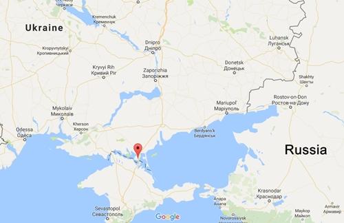 Vị trí Chonhar, Ukraine. Đồ họa: Google Maps.
