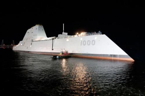 Tàu USS Zumwalt tối tân của hải quân Mỹ. Ảnh: