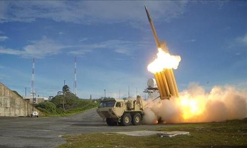 Hệ thống phòng thủ tên lửa tầm cao giai đoạn cuối (THAAD). Ảnh: Press TV.