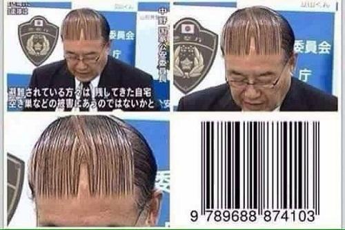 Kiểu tóc mã vạch.