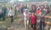 Cặp đôi móc túi người dân đến xem xử án thảm sát ở Bình Phước