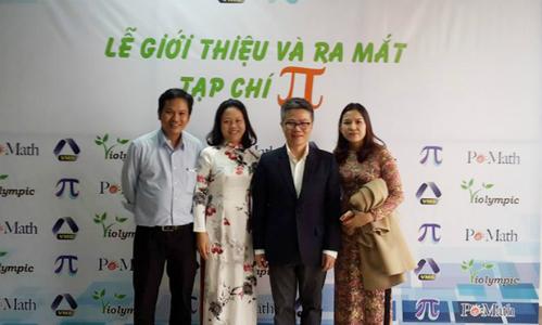 GS Ngô Bảo Châu và anh Trần Nam Dũng tại buổi họp báo ra mắt tạp chí Pi. Anh Dũng là mentor quen thuộc của sinh viên FUNiX, đại diện phòng đào tạo của trường tại TP HCM.