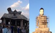 Tượng Phật cao nhất miền Bắc bị sập