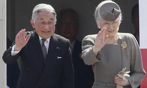 Nhà vua Nhật Bản Akihito và Hoàng hậu Michiko. Ảnh: Reuters.