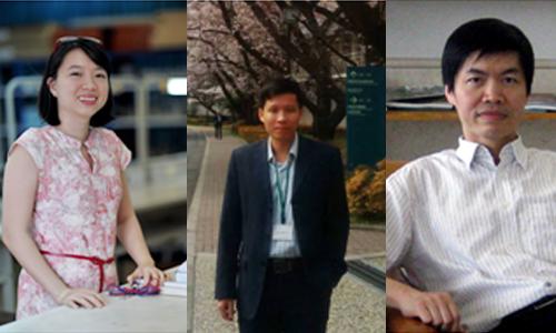 Ba nhà khoa học từ trái sang:Lê Thị Quỳnh Hương