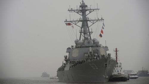 Tàu khu trục USS Stethem của hải quân Mỹ. Ảnh: Reuters