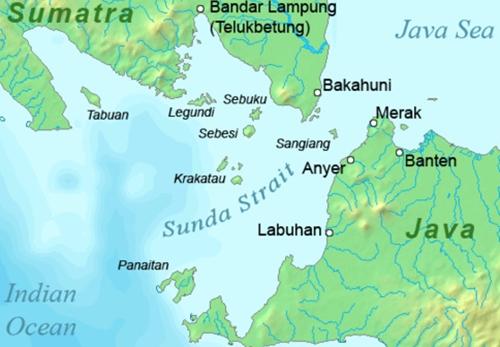Vị trí eo biển Sunda. Đồ họa:
