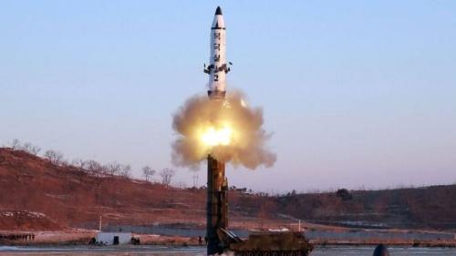 Một vụ phóng tên lửa của Triều Tiên. Ảnh: KCNA