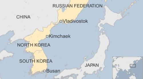 Vị trí thành phố Vladivostok, Nga. Đồ họa: BBC.