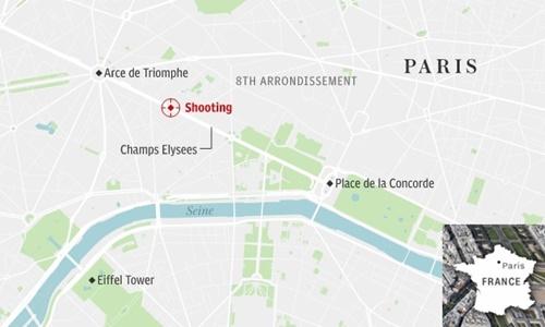 Vị trí xảy ra vụ xả súng. Đồ họa: Telegraph.